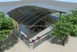 no welding aluminum carports polycarbonate frame for car cover