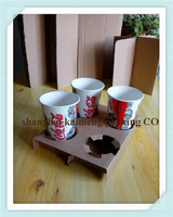 High quality take away for coffee cup holder/paper cup tray for selling