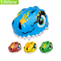 LIFETONE Cartoon Dinosaur Road Cycling Helmet MTB Ultralight EPS+PC Child Bike Helmet for childSafe Bicycle Helmet 3~8 years old