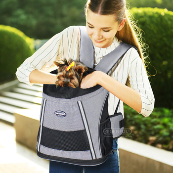 Foldable sided pet carrier dog carrier backpack