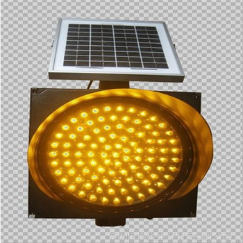 Solar traffic flashing sign led amber light