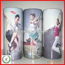 wholesale disposable PVC clear plastic round box for underware