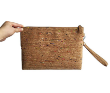 Alibaba Hot Selling Eco-friendly Portugal Cork Women Handbag Vegan Clutch Bag