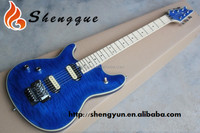 Shengque Left hand Quilted Maple Body Blue Rock Electric Guitar