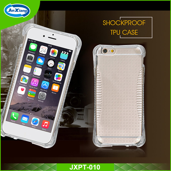 2016 hot Online shockproof clear tpu cell case for iphone 6/6s