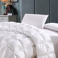 Supremely soft lightweight hotel goose down quilt white comforter
