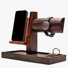 100% Wood Watch Display Stand,Mobile Phone Charge Dock Stand Holder