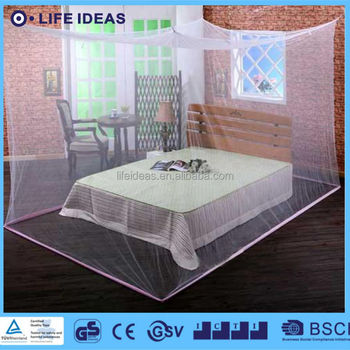 King queen rectangular bed canopy mosquito net box net for Rectangle bed canopy