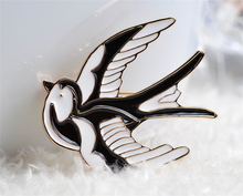 free sample flying swallow lapel pin making supplies