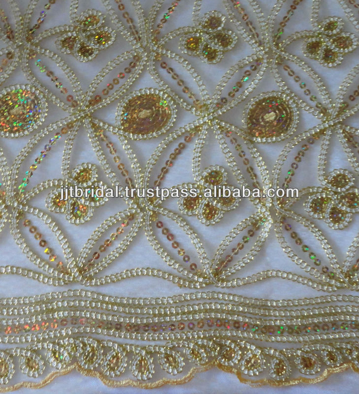 2013 New Arrival Gold Embroidered Fabric SP72