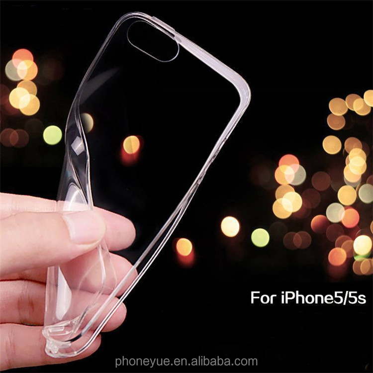 0.3mm Super Thin Clear TPU Soft Gel Silicone Phone Case for iPhone 5/5s
