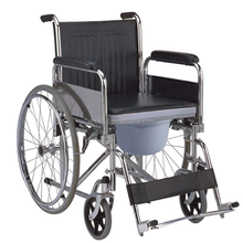 Manufacturer Large Quantity Steel Commode Wheelchair Flip back armrest(with CE&FDA&ISO)