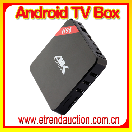 S905 H96 Set Top Box Build-in WiFi Bluetooth 4.0 android tv box ARM A9 iptv greek channels android mini tv box