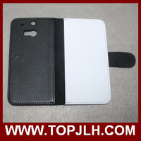 Cheap Price Sublimation Leather Flip Case for HTC One M8