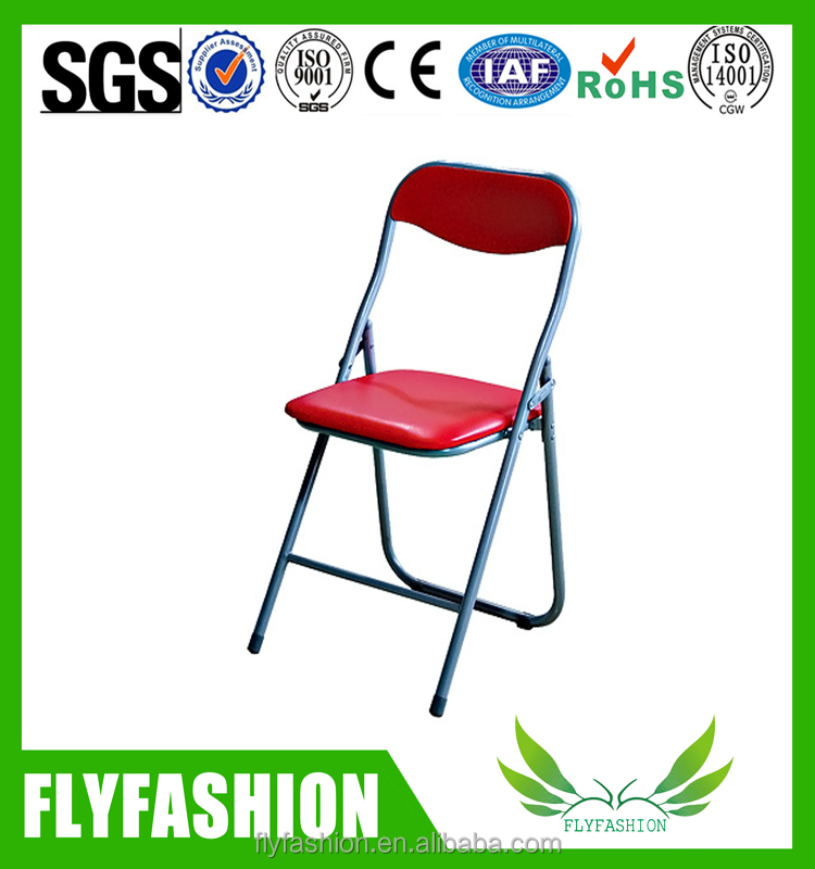 Plastic office folding chair/training chair without arm