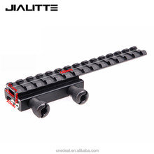 Jialitte Low Scope Mount Base Flattop Picatinny Rail Riser Extended 20mm Picatinny Weaver Mount Rail Hunting Accessories J067
