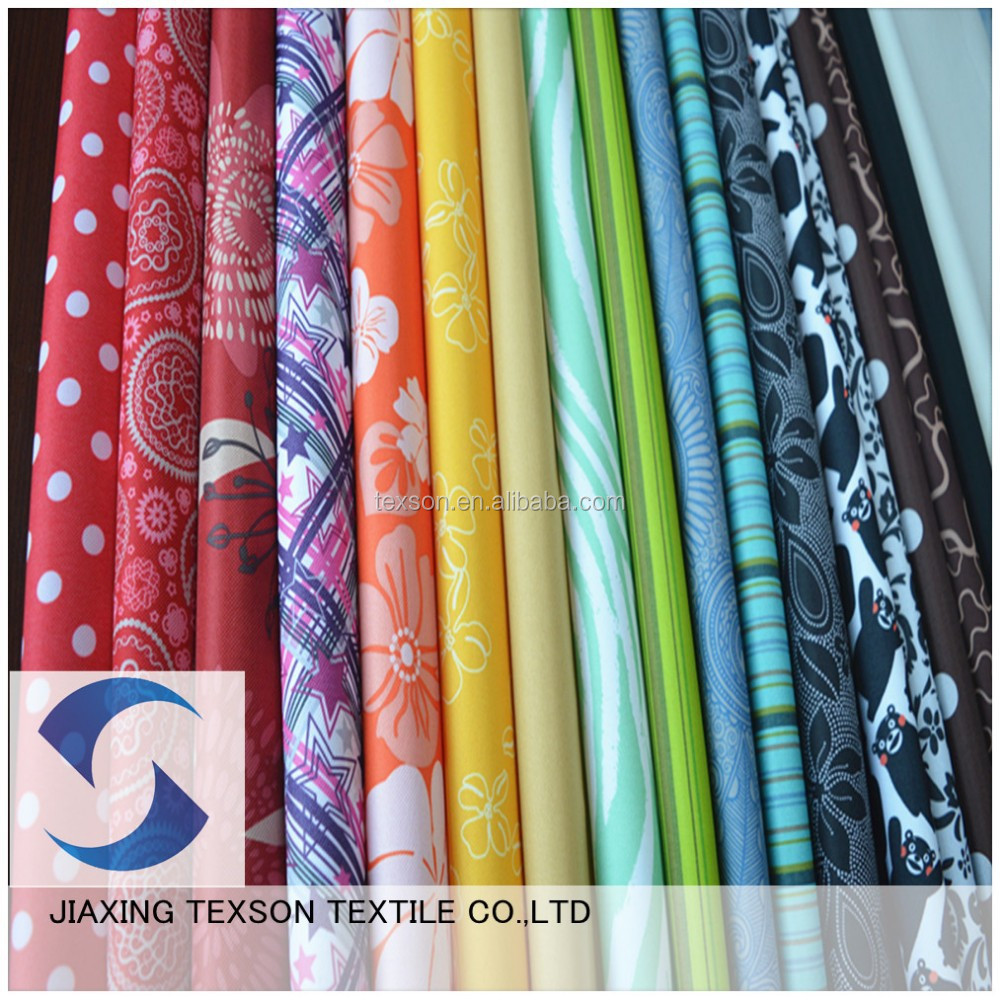 100% Polyester Woven Different Types of Fabric Printing