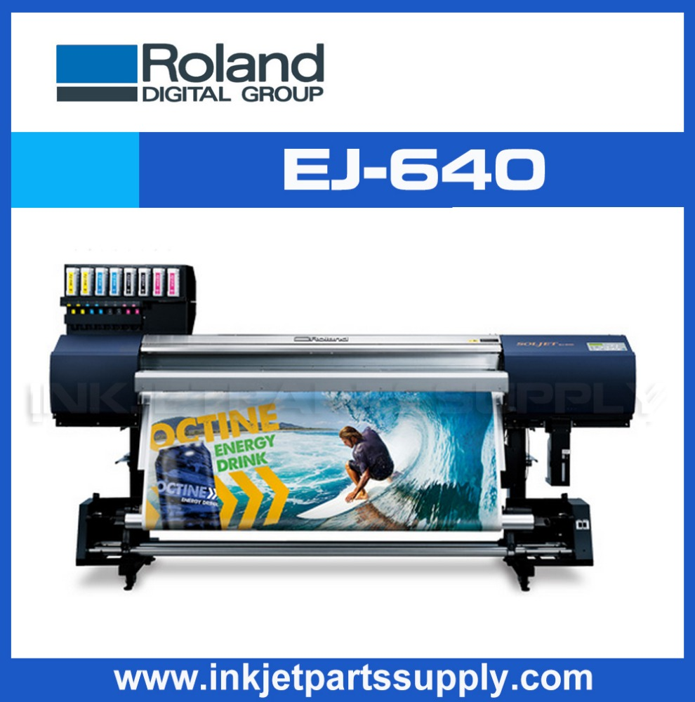 High speed Roland SOLJET EJ640 ,eco solvent printer with dual head