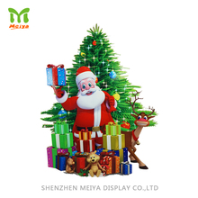 Custom Retail 3D Cardboard Stand Up Christmas Tree Cutouts Display for Promotion