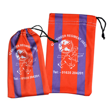high quality drawstring pouch glasses cotton red bag