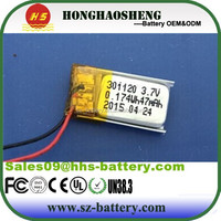 Buy Mini rechargeable lithium polymer battery 401120 in China on ...