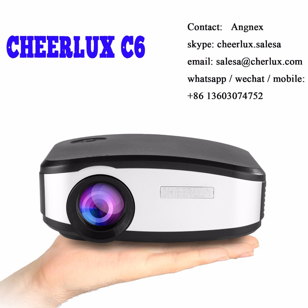 Cheerlux C6 mini <strong>projector</strong> with 1200 lumens native 800*480 huge discount whole sale price