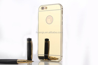 hot sale 24kt Mirror gold plating back housing meatl frame cover for iphone 6s plus factory price