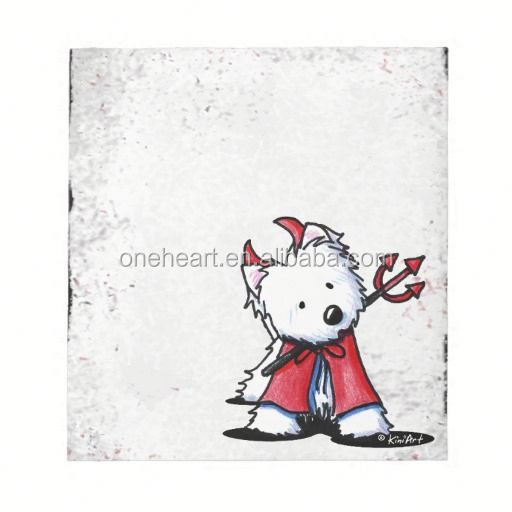 Hot Sale Little Devil Westie Notepad star shape sticky note