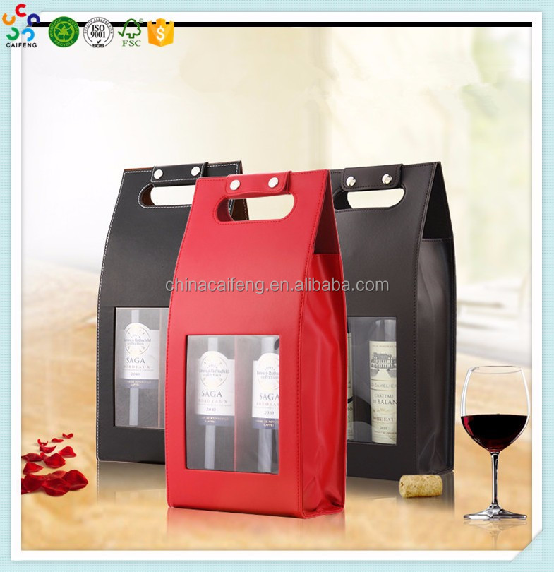 new design double bottle gift personalized wine crate