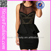 Fast Delivery Sexy Black Sequins Simple Office Lady Dress
