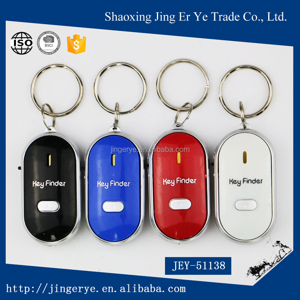 Wholesale colourful fashion keychain cheap keyfinder
