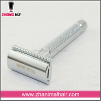 chrome plated aliuminum handle double edge safety razor