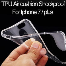 Air Cushion Shockproof Transparent TPU Case for iphone 7, Phone Case for iphone 7 plus