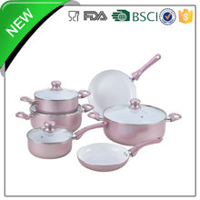 wholesale cheap camping parini surgical amc vitrex porcelain induction 10pcs aluminum ceramic non-stick cookware