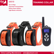 2017 Best Electric Pet Dog Training E Collars with Remote vibration and shock for Dogs Training up to 3dogs