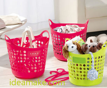Laundry Bag Plastic Hollowed-out Design Laundry Organizer