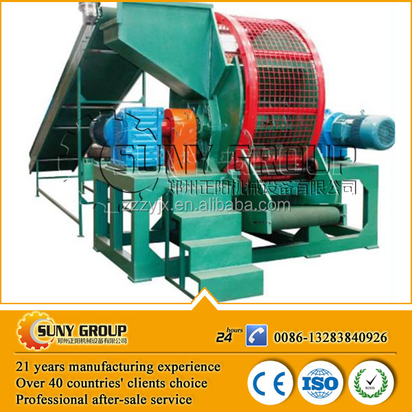 high output rubber tire recycling machine/scrap tyre recycling factory