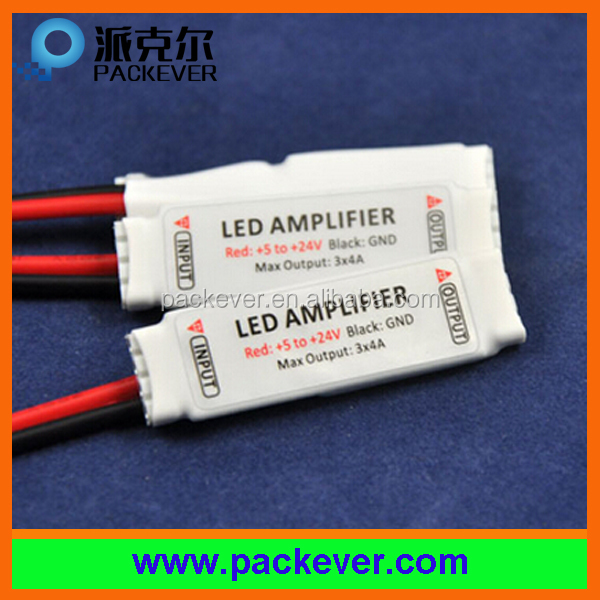 DC 5V-24V input 12A output rgb mini LED amplifier/repeater
