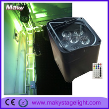 Magic Effect By Remote Control Dmx512 RGBWA UV 6in1 led par light MAKY G103 6pcs with auto sound activestage lighting