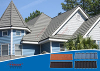 Rectangular shaped Aluminium Shingles Roof with high level quality plastic roof tiles