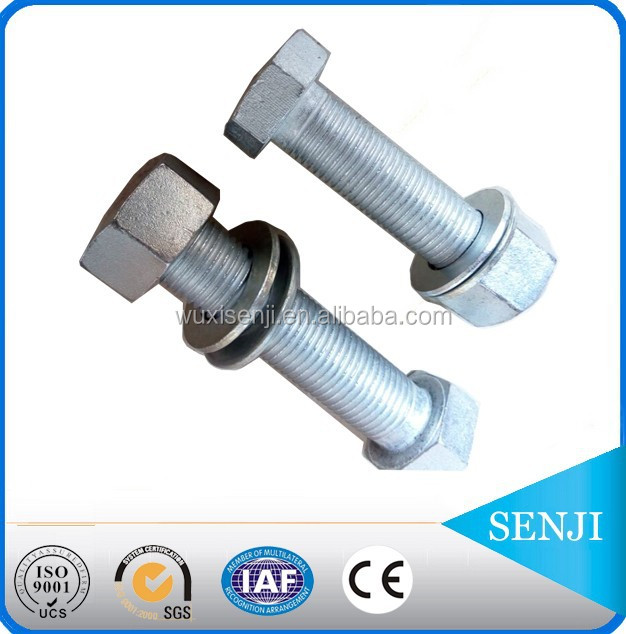 china wuxi senji fasteners coating at your request hexagonal bolts