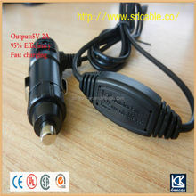 DC 5.5X2.5mm Car Vehicle Charger Adapter Cord Cable 12V 1A dc power plug