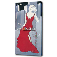 Wall decoration Elegant red dress lady picture