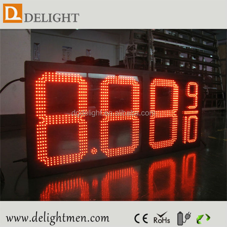 led time temperature sign/ gas station price led sign board/ ali express led electronic signs