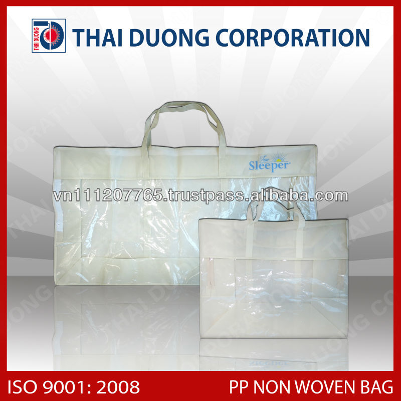 Printable 1c/2c, black color, Non woven carrier bag using blanket