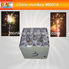 1.4G 500g 18shots multi color effect consumer ground cakes for new year christmas fireworks for sale(M6018)