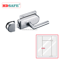 high quality SUS304 door lock for passage and toliet without key with handle