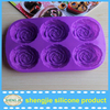 100% silicone rose shape baking pan/cake mould