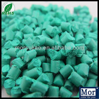 2016 new formula green master batch,green concentrates for pp/pe/pet/abs plastic pellets, green plastic granules