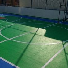 Indoor Sport Court Interlocking Plastic Modular Volleyball Flooring